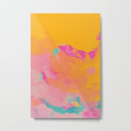 full color abstract sunset Metal Print