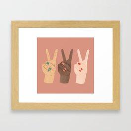 Peace Hands Framed Art Print