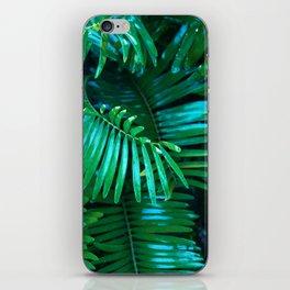 Green Palm Leaves iPhone Skin