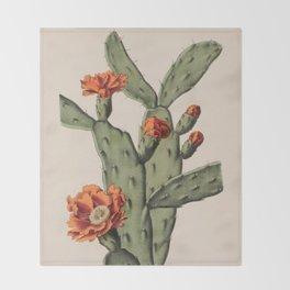 Botanical Cactus Throw Blanket