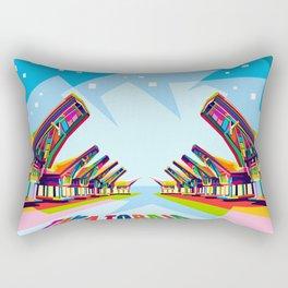 Toraja Land In Pop Art Rectangular Pillow