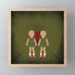 Twin Kids Framed Mini Art Print