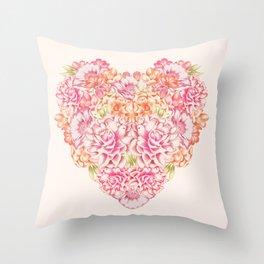 COEUR & FLEUR Throw Pillow