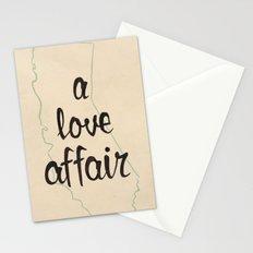 a love affair Stationery Cards