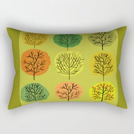 Tidy Trees All In Pretty Rows Rectangular Pillow