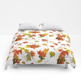 Autumn Leaves Hello Fall! Comforters