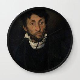 Theodore Gericault - Portrait of a Kleptomaniac Wall Clock