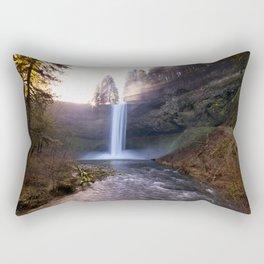 Sun Star Over South Falls Rectangular Pillow