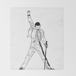 Don't Stop Me Now Throw Blanket