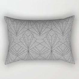 Art Deco in Black & Grey Rectangular Pillow