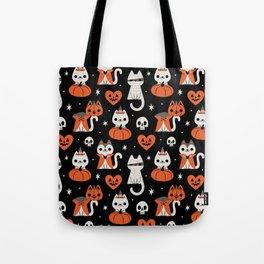Halloween Kitties (Black) Tote Bag