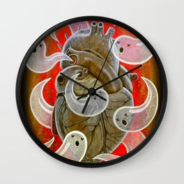 """""""A HEART FULL OF GHOSTS"""" Wall Clock"""