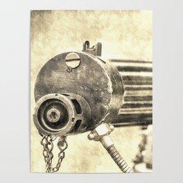 Vickers Machine Gun Vintage Poster
