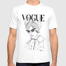 Vogue Italia MEDIUM Mens Fitted Tee White