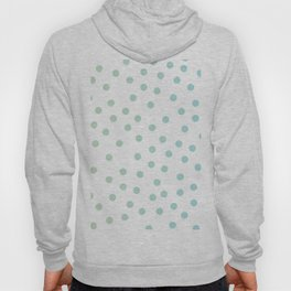 Simply Dots in Turquoise Green Blue Gradient on White Hoody