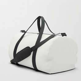 Neutral Off White Inspired by PPG Glidden Delicate White PPG1001-1 Solid Color Duffle Bag