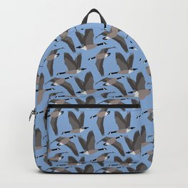 Canada Geese Flying in Blue Backpack