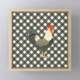 ROOSTER ON CHARCOAL Framed Mini Art Print