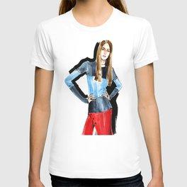 Fashion #16. Long-haired girl in fashionable dress-transformer T-shirt