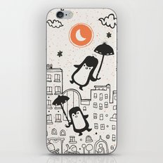 The Penguins into moonlight iPhone & iPod Skin