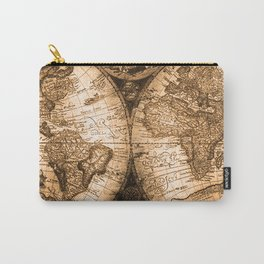 World Map Antique Vintage Maps Carry-All Pouch