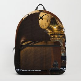 Clock at Grand Central Station Terminal in New York City Backpack