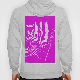 Eye Of The Tiger - Pink & White Hoody