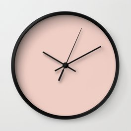 Blush - Solid Color Collection Wall Clock