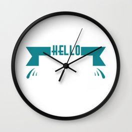 "Simple and nice tee design perfect gift this seasons of giving. Grab this ""Hello spring"" tee now!  Wall Clock"
