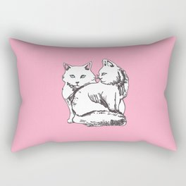 White Maine Coons Cats Rectangular Pillow