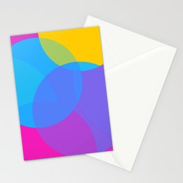 Pansexual Pride Simple Transparent Layered Circles Stationery Cards
