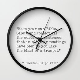 Ralph Waldo Emerson awesome quote 9 Wall Clock