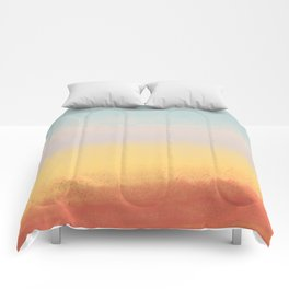 Ceramic Sunset // Multi Color Speckled Drip Summer Beach California Surf Vibes Wall Hanging Design Comforters