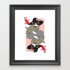 Queen of Heart Framed Art Print
