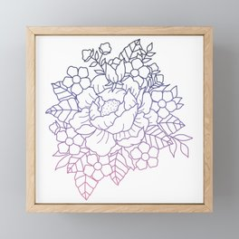 Gradient Peony Framed Mini Art Print