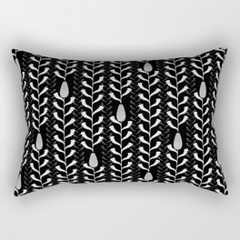 Monochrome banksia pattern Rectangular Pillow