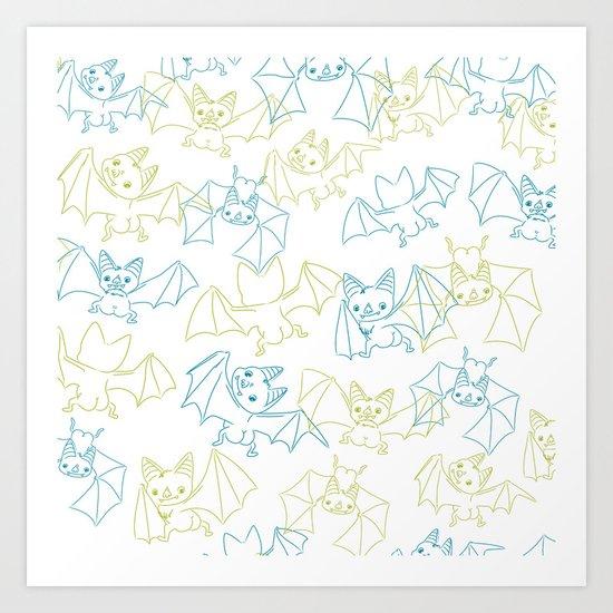 Bat Butts! Art Print