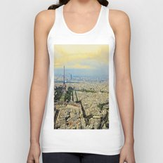 Above Paris Unisex Tank Top