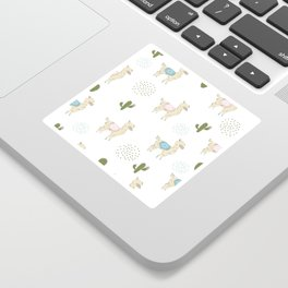 Alpaca Pattern Sticker