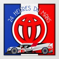 24 Hours of Le Mans - Toyota TS050 Canvas Print