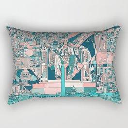 washington dc city skyline Rectangular Pillow
