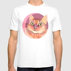 Miss Meowgi Mens Fitted Tee White SMALL