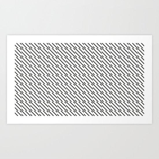 IJzerman Black & White Pattern Art Print