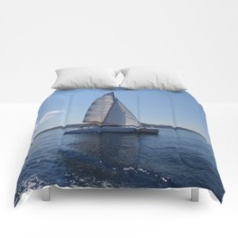 Catamaran In The Mediterranean Comforters