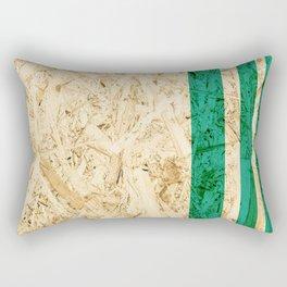 Wood Turqoise Rectangular Pillow