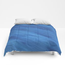 Diagonal Blue Stripes Print Comforters