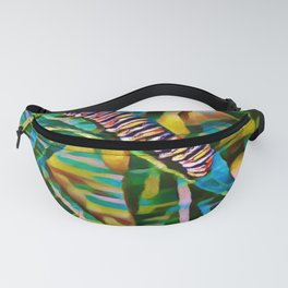 Caterpillar Fiesta | Oil Painting Fanny Pack