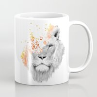 king Mugs featuring If I roar (The King Lion) by Picomodi