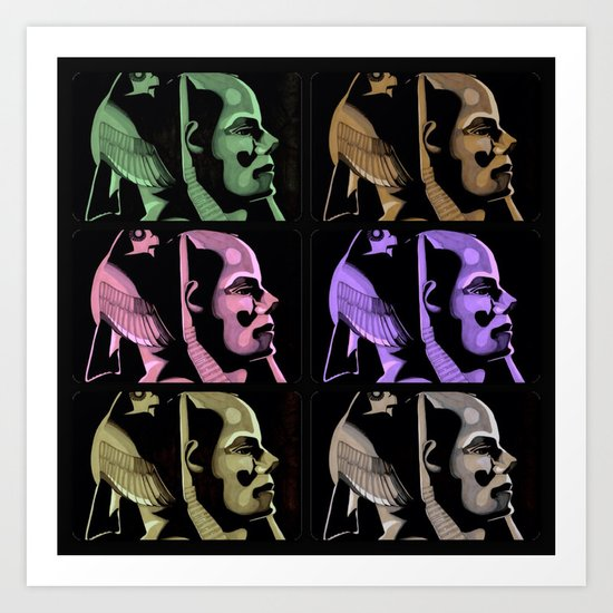 Pharaoh Colors Art Print