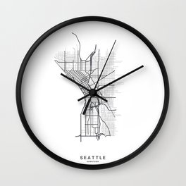 Streets of Seattle Wall Clock